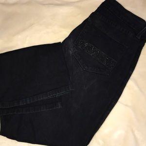 NYDJ black jeans size 6P bootcut